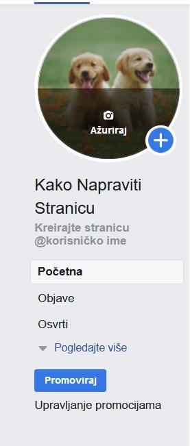 kreiranje korisničkog imena facebook stranice