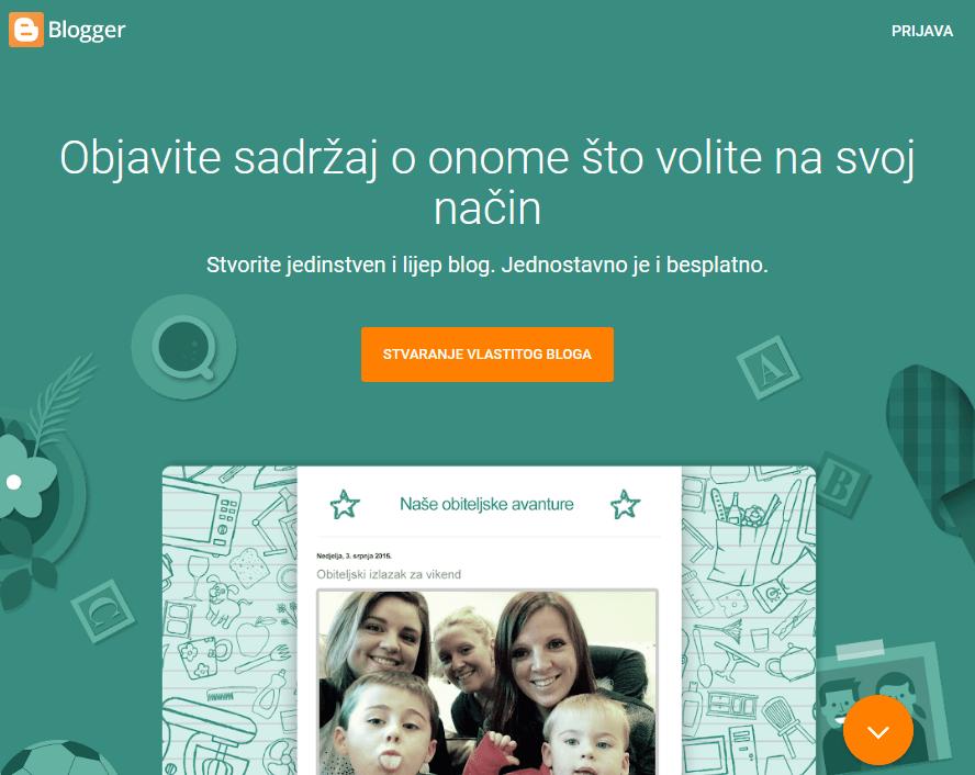 besplatno stvorite vlastitu web stranicu za upoznavanje
