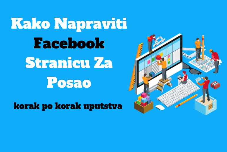 kako napraviti facebook stranicu za posao