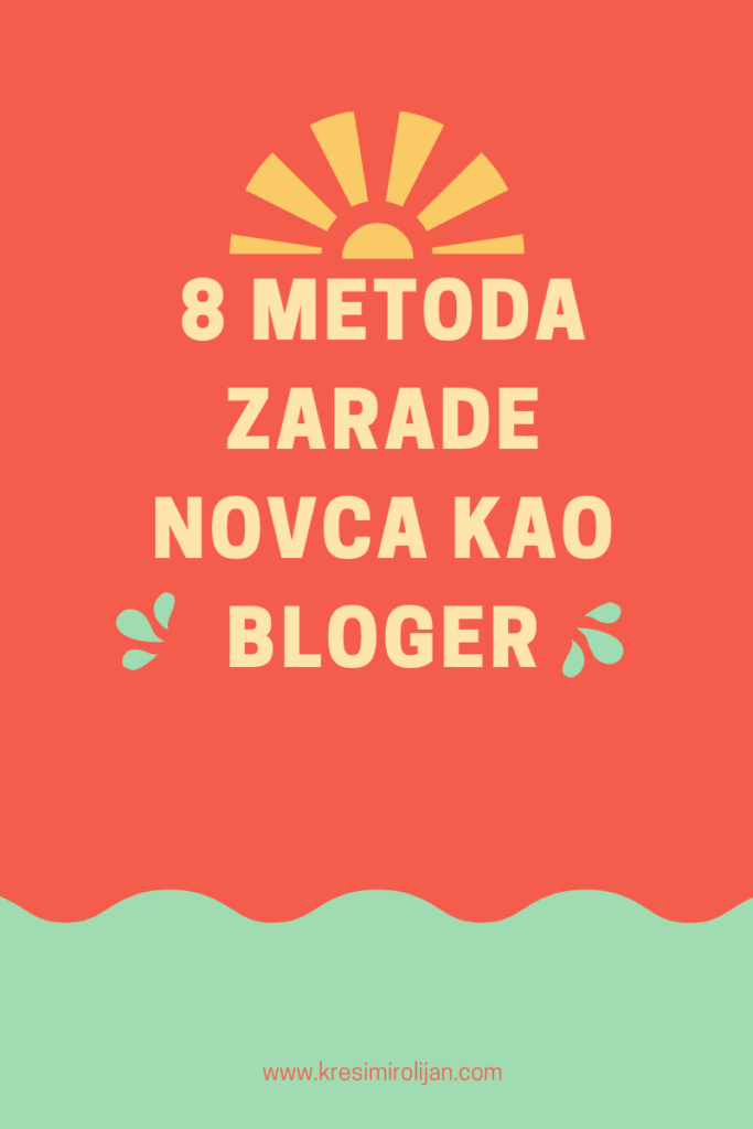 8 metoda zarade kao bloger